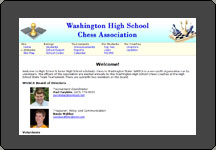 Washington High School Chess web site